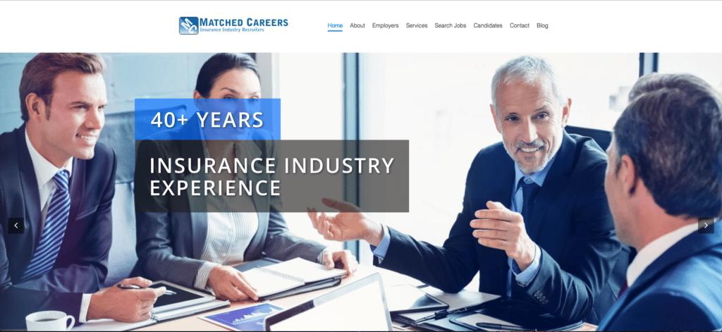 insurance industry recruiters websites