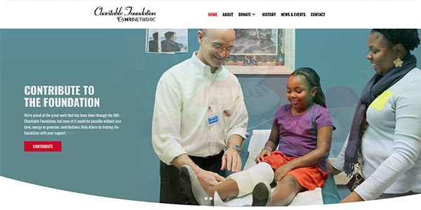 MRI Charitable Foundation Home Screen